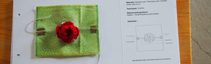 E-Textile Swatch: Rose Resistance