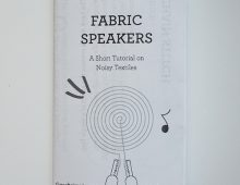 Fabric Speaker Zine